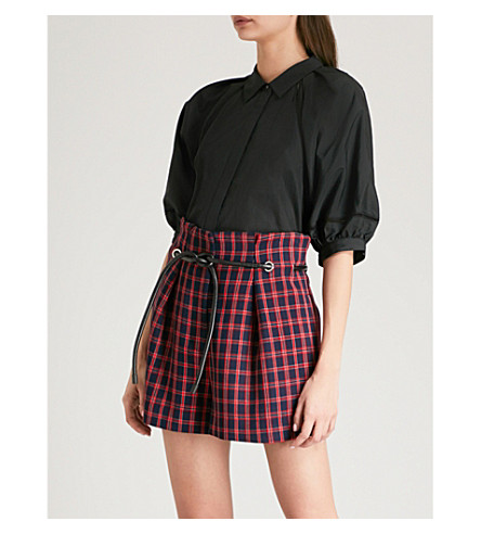 3.1 PHILLIP LIM Puff-sleeve cotton shirt (Black