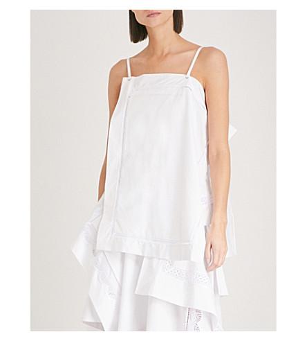 3.1 PHILLIP LIM Embroidered handkerchief-hem cotton camisole (White