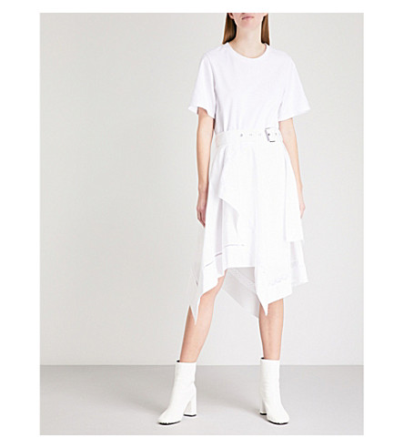 3.1 PHILLIP LIM Handkerchief-hem cotton dress (White