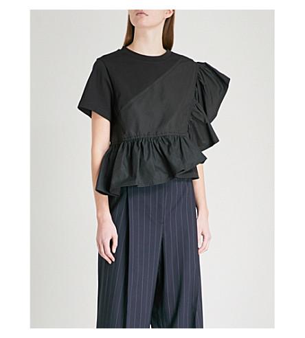 3.1 PHILLIP LIM Flamenco woven cotton top (Black