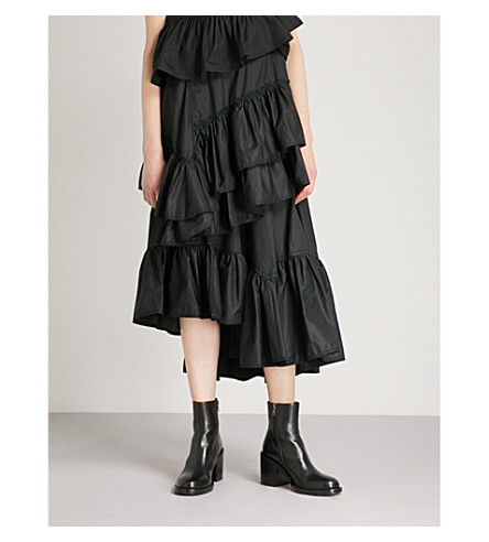 3.1 PHILLIP LIM Flamenco tiered technical-cotton skirt (Black