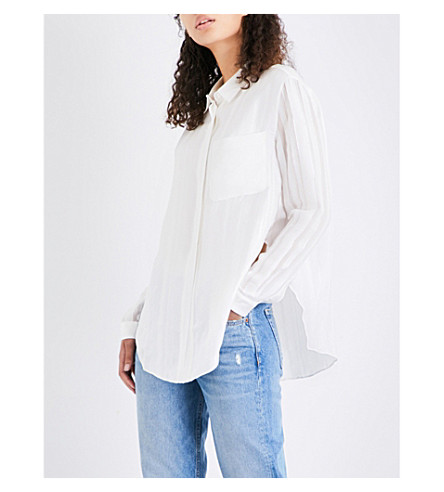 3.1 PHILLIP LIM Striped silk shirt (Ant+white