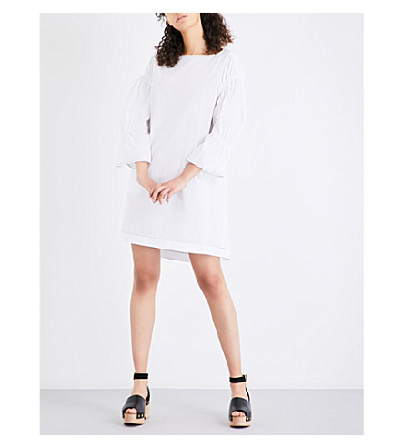 3.1 PHILLIP LIM Ruched cotton dress (White