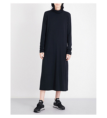 Y3 Lux jersey midi dress (Black