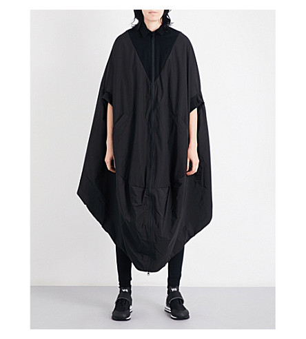 Y3 Novelty oversized shell coat (Black