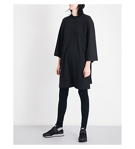 Y3 Graphic oversized cotton-jersey T-shirt (Black