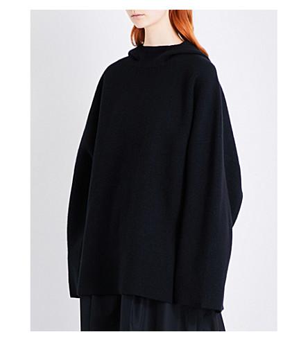 Y3 Loose-fit mohair-blend hoody (Black
