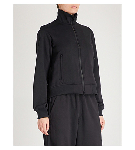 Y3 Open-back jersey jacket (Black
