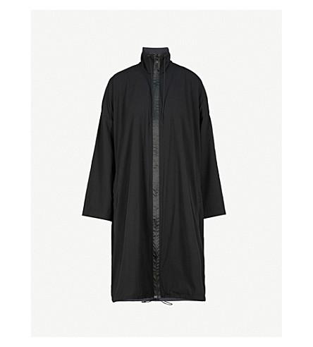 Y3 Logo-print woven kimono (Black