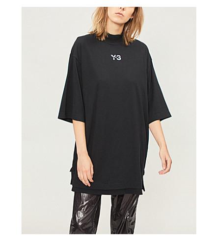 Y3 Signature cotton-jersey T-shirt (Black
