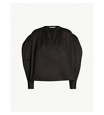 ISABEL MARANT ETOILE Olto blouson sleeves cotton shirt (Black