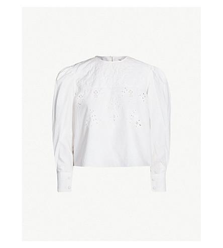 ISABEL MARANT ETOILE Wona cutout cotton top (White
