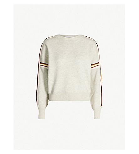 ISABEL MARANT ETOILE Kaori striped knitted jumper (Light grey
