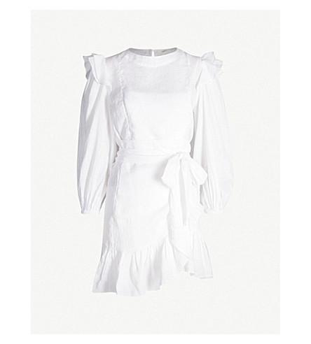 ISABEL MARANT ETOILE Telicia ruffle-trimmed cotton mini dress (White