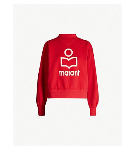 ISABEL MARANT ETOILE Moby cotton-blend sweatshirt (Red