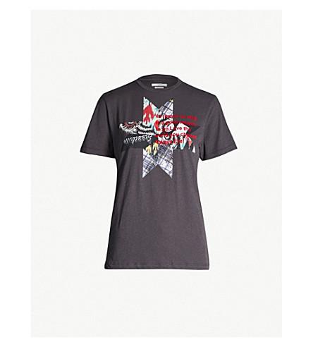 ISABEL MARANT ETOILE Zewel cotton-jersey T-shirt (Fade black