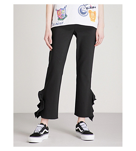 OPENING CEREMONY William straight cropped crepe trousers (Black