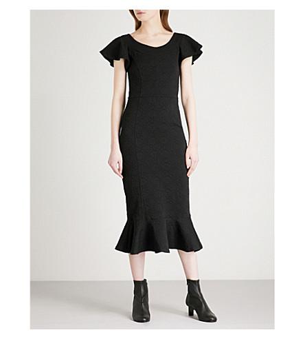 OPENING CEREMONY Lotus jacquard midi dress (Black