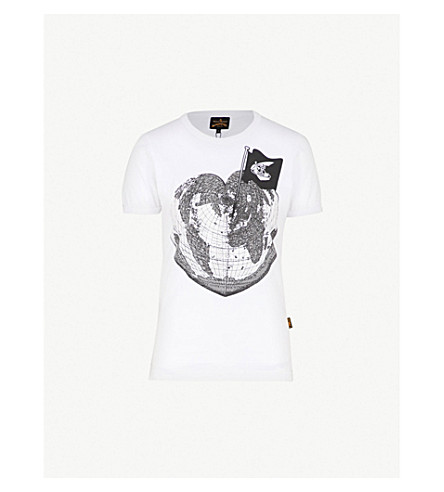 VIVIENNE WESTWOOD ANGLOMANIA Heart-print cotton-jersey T-shirt (White