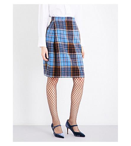 VIVIENNE WESTWOOD ANGLOMANIA Elisa tartan high-rise wool-blend skirt (Light