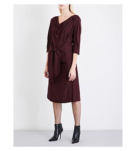VIVIENNE WESTWOOD ANGLOMANIA Marylin woven midi dress (Oxblood