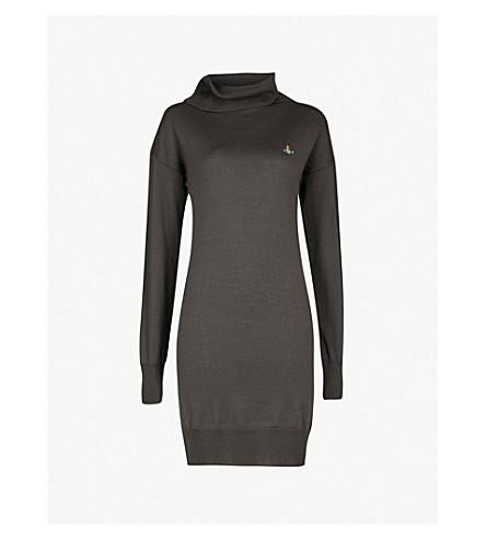 VIVIENNE WESTWOOD Turtleneck wool dress (Grey