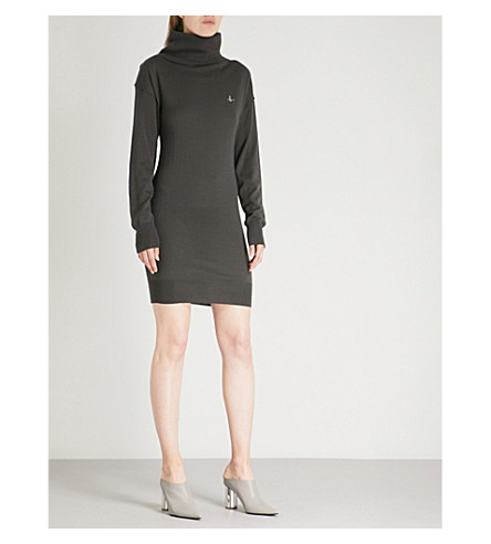 VIVIENNE WESTWOOD Turtleneck wool dress (Grey
