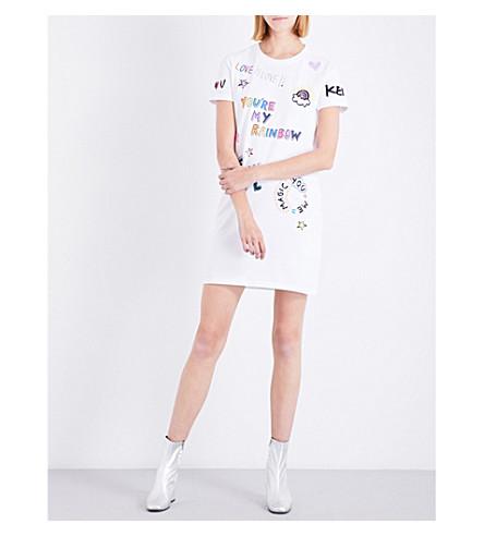 KENZO I Love You cotton-jersey T-shirt dress (White