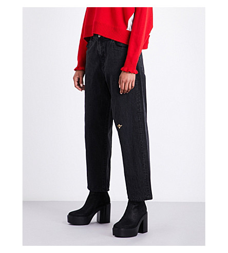 UNDERCOVER Straight high-rise jeans (Black