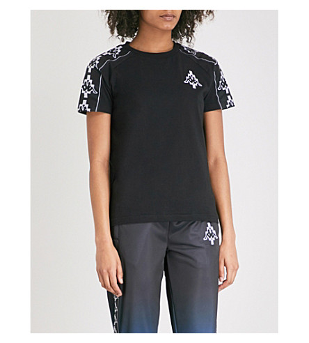 MARCELO BURLON Kappa cotton-jersey T-shirt (Black