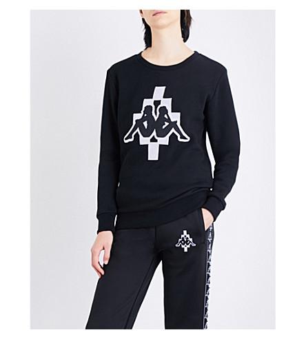 MARCELO BURLON Kappa jersey sweatshirt (Black