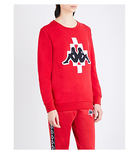 MARCELO BURLON Kappa jersey sweatshirt (Red
