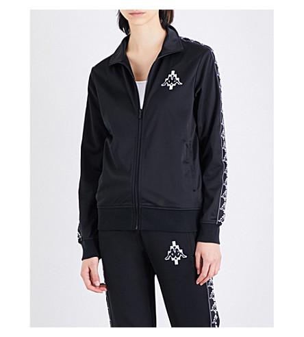 MARCELO BURLON Kappa zip-up sports-jersey jacket (Black