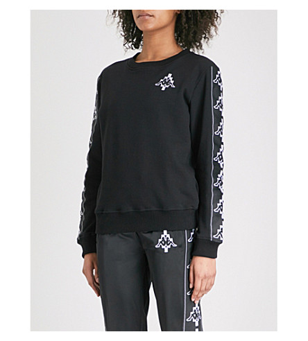 MARCELO BURLON Kappa cotton-jersey sweatshirt (Black