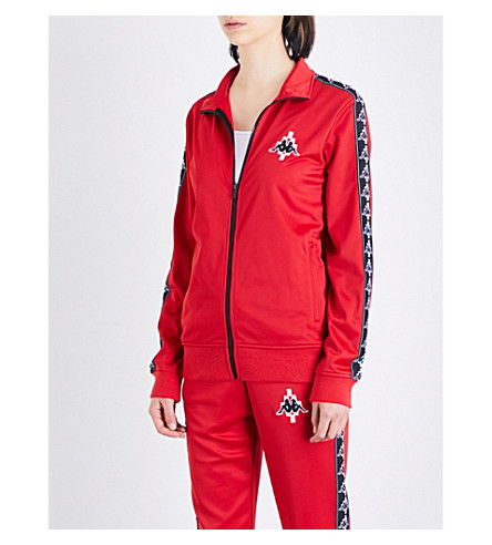 MARCELO BURLON Kappa zip-up sports-jersey jacket (Red
