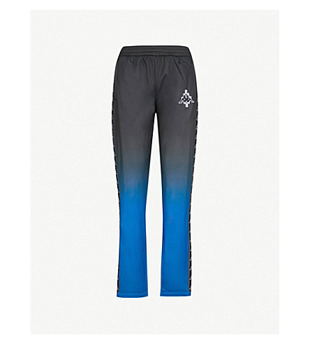 MARCELO BURLON Kappa tapered mid-rise woven trousers (Blue