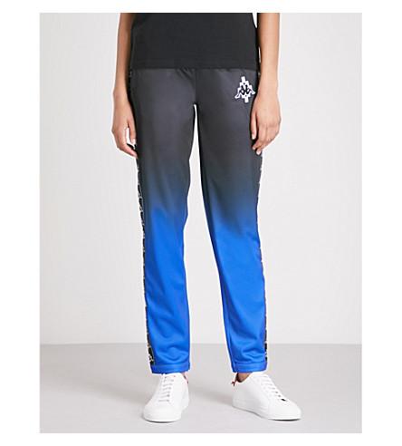 MARCELO BURLON Kappa tapered mid-rise woven trousers (Blue