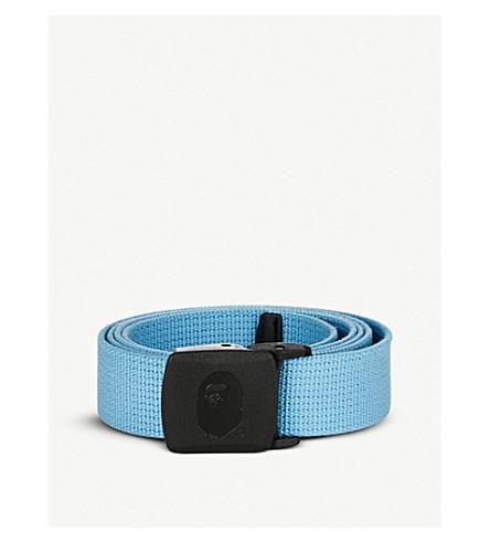 BAPE Logo-embossed woven belt (Blue