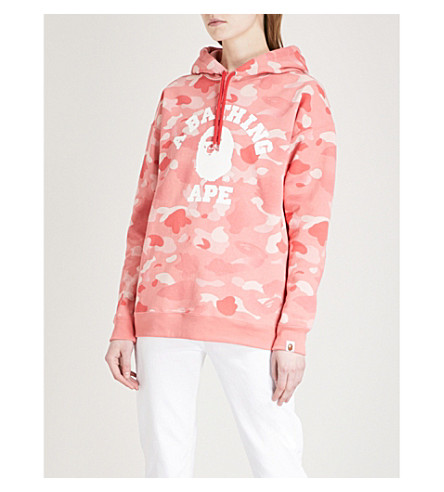BAPE Camouflage-print cotton-jersey hoody (Pink