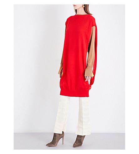 TOGA Detachable-layer jumper dress (Red