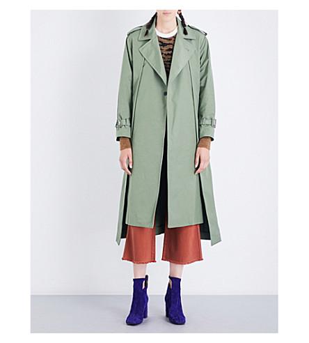 TOGA Oversized twill coat (Khaki