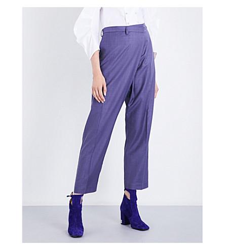 TOGA High-rise gabardine trousers (Purple
