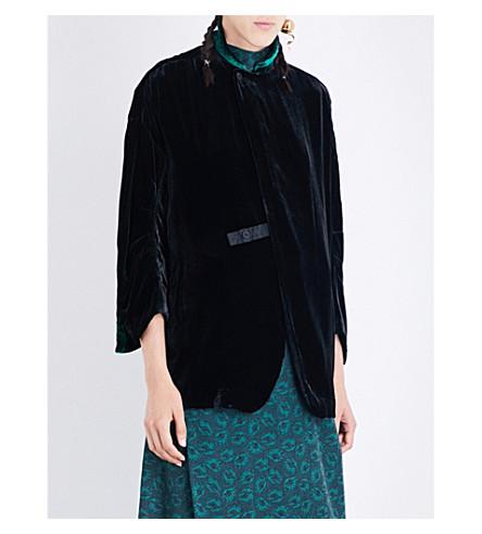 TOGA Long-sleeved velvet jacket (Black