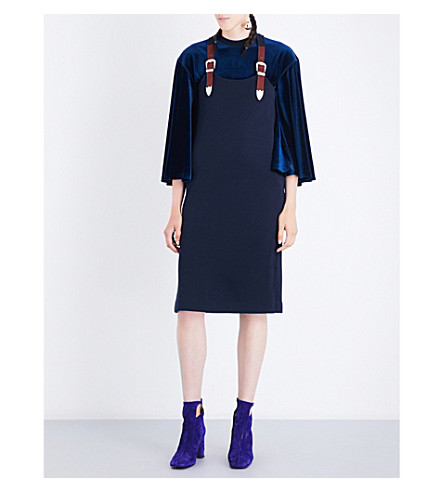 TOGA Mirano wool-jersey dress (Navy