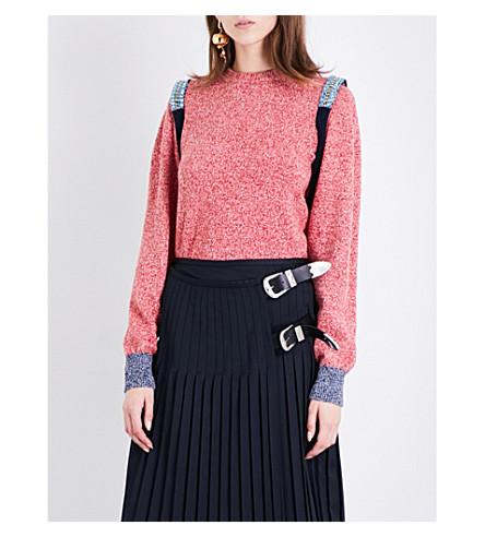 TOGA Bead-embellished wool-blend jumper (Red