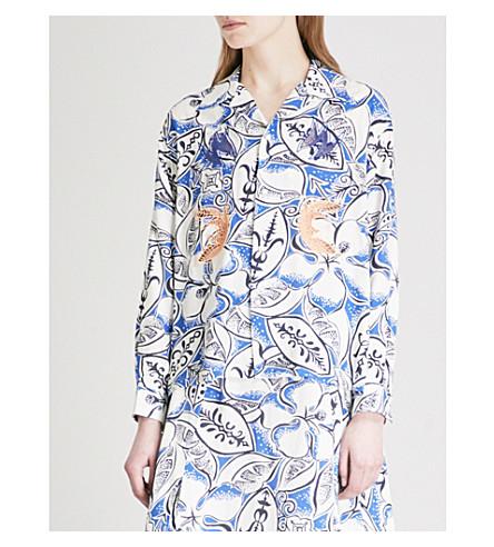 TOGA Oval-print woven shirt (Blue