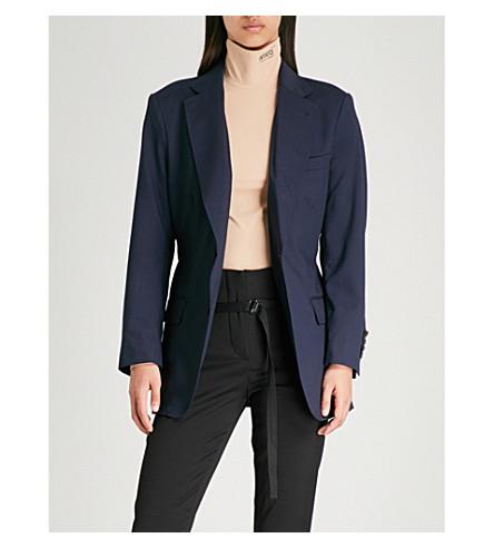 TOGA Multi-strap wool jacket (Navy