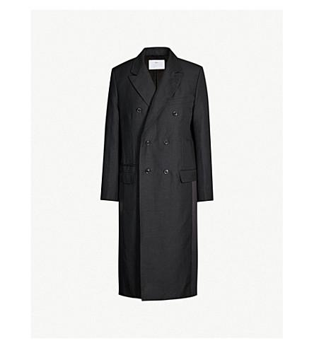 TOGA PVC-panel wool-blend coat (Black