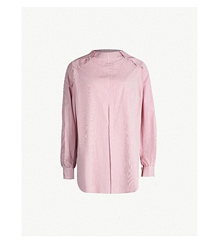 TOGA High-neck double-cuff cotton shirt (Pink