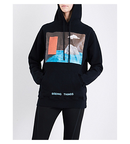OFF-WHITE C/O VIRGIL ABLOH Door cotton-jersey hoody (Black